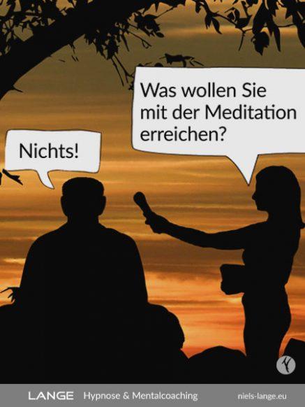Meditation führt zum Erwachen im Bewusstsein